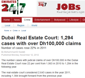 real estate cases 2012 dubai